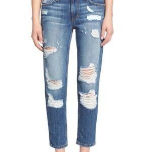 Joe's Jeans Billie Crop Slim Boyfriend Destroyed